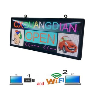 Outdoor PH6 mm Full Color LED Sign 40''x18'' Support Scrolling Text Display Screenuse WiFi and usb programmable Image Video Advertising Board
