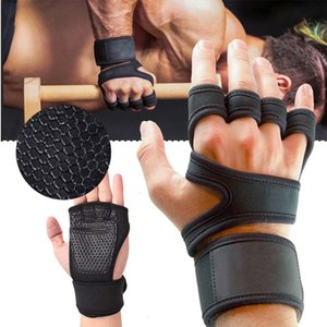 Half Finger Weight Lifting Training Gloves Women Men Fitness Sports Body Building Gymnastics Grips Gym Hand Palm Protector Glove