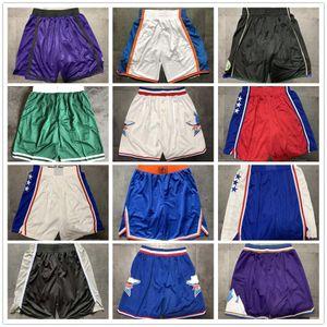 Team Basketball Shorts Men Shorts de basket Sport Shorts College Pants White Blue Red Purple Yellow Black