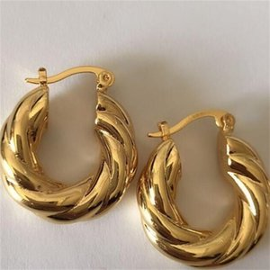 Wholesale 2017 New Big Hoop Earrings Pendant Women's wedding Jewelry Sets Real 14k yellow Solid Fine Gold Africa Daily Wear Gift 51 U2