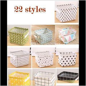 Foldable Colors Sundries Bin Closet Toy Box Container Organizer Fabric Home Desktop Washstand Cosmetics Tu8P Boxes Storage 6Xq87