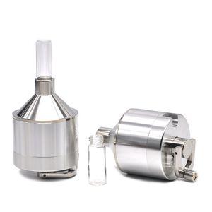 Cheapest 44mm Mill Herb Grinder Metal Spice Press Crusher FOR VAPORIZER Tobacco Herb Grinder Crusher Smoking Hand Muller Hand Crank 308 V2