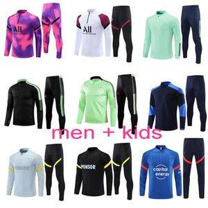 21 22 soccer tracksuit Men + kids football training suit 2020 2021 2022 jogging survetement de foot chandal