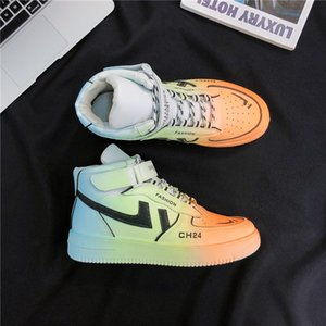 Skate shoes Casual Men Vulcanized Shoes Sneakers Fashion Lace Up Colorful Color Sports Graffiti Board 210826