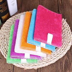 Cleaning Cloths 5 10 Pcs Kitchen Anti-grease Wipping Rags Efficient Bamboo Fiber Cloth Home Washing Dish Multifunctional Tools