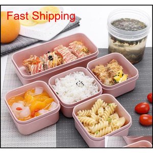 Boxes Kitchen Housekeeping Organization Home & Gardenmik 7-Piece Set Lunch Eco-Friendly Food Storage Container Microwavable Bento Leakproof