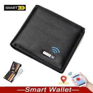 Smart wallet Men Genuine Leather Anti Lost Intelligent Bluetooth Smart GPS Wallet Purse Male Card Holders Card Case Suit