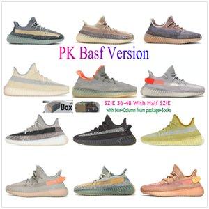 PK BASF Cendres de cendres Cendail de la queue de queue de la queue de la queue de la queue Sage Yecheil réfléchissant Citrin Cloud Blanc Hommes Femmes Femmes Running Shoes Sneakers Sports Black Static Entraîneurs
