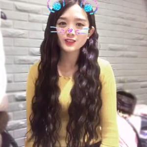 COS WIG женская длинная вьющиеся волосы голова волос крышка химического волокна высокая температура шелковые ложные соревновательные челки