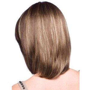 Парики парики, женственность, обрезки для лица, короткие прямые волосы, основные моменты, Jiafa False Headgear, косые челки, постепенная прическа