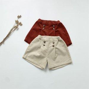 Shorts Vintage Baby Kids Warm Corduroy 2021 Spring Autumn Toddler Boys Girls Mid Waist Elastic Short Pants Infant Clothes