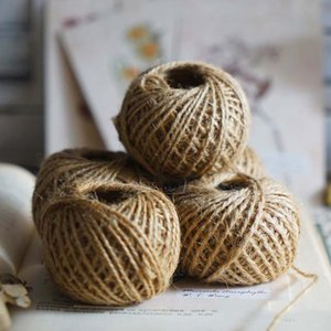 50M Natural Burlap Hessian Jute Twine Cord Hemp Rope String Gift Packing Strings Christmas Event & Party Supplies