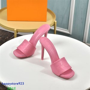 H01h Latest high quality 2021 stye real leather women sandals slippers sexy heels shoes banquet party sflip flop neakers casual overheight with heel