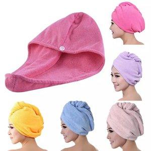 Mikrofiber Hızlı Kuru Duş Saç Kapaklar Havlu Kurutma Wrap Bayan Kızlar Lady's Havlular Quickdry Şapka Kap Türban Başkanı Mayo WLL538