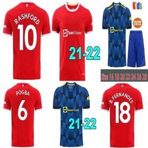 Top20 21 Manchester Rashford Cavani Van de Beek Fernandes Futebol Jerseys Utd Futebol Camisas Hu Hu HRFC Man Kits Kits Uniformes
