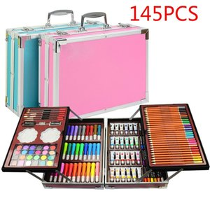 Art Painting Set 145 Pcs Water Color Pen Crayon Oil Pastel Colored Pencil Drawing Stationery Non-toxic Gift Kit for Children