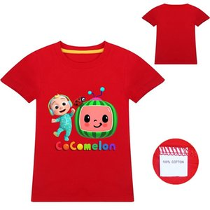 New 8color Cute Cocomelon Tshirt Family Matching T-shirt JJ Design Cocomelon Clothes 1205 Y2