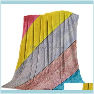 Textiles Home & Gardencolor Wood Grain Lines Throw Blanket Soft Comfortable Veet Plush Blankets Warm Sofa Bed Sheets1 Drop Delivery 2021 Ugk