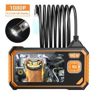 Profession Dual Lens Industrial Endoscope Digital 4.3inch LCD Snake Camera 1080PHD IP67 Waterproof Inspection IP Cameras