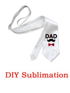 Favor Sublimation Casual Men Tie White Blank Glossy Suit Necktie Heat Transfer Coating Uniform Ties