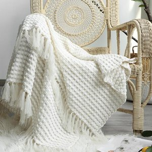 Blankets Casual Throw Blanket Soft Comfortable Knitted Shawl Sofa Lounge Chair Cover Travel El Decorative Bedspread