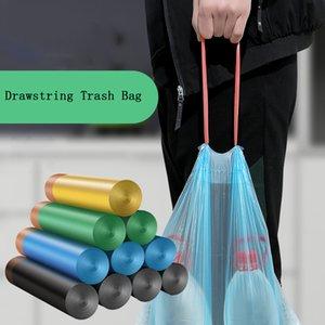 Bolso de almacenamiento de basura con cordón 15pcs / lot Stringing engrosar cocina doméstico automático bote de basura Bolsas de plástico de basura