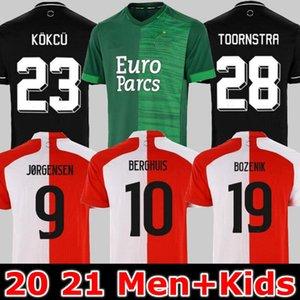 21 22 Feyenoord Away Verde V. Persie Soccer Jerseys 2021 2022 Toornstra Jorgensen Camicie da calcio per la casa Vilhena clasie larsson Berghis Brevi uniformi