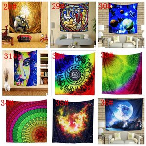 150*130cm polyester Bohemian Tapestry Mandala Beach Towels Hippie Throw Yoga Mat Towel Indian Polyester wall hanging Decor ZZE5261
