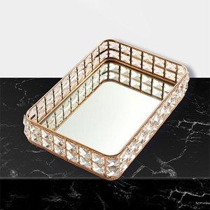 1шт старинные хрустальные стеклянные зеркало для хранения лоток настольный декоративный десерт фрукты ювелирные изделия дисплей пластины ящики бункеры
