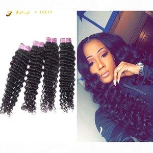 JYZ Human Hair Deep Wave Brazilian 4 Bundles Malaysian Virgin Hair Deep Wave Human Hair Bundles Peruvian Wefts Virgin