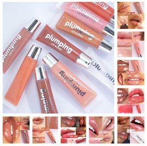 Maquillaje hidratante plumador de lápiz lipgloss de labios brillo labial plumpere nutritivo lápiz labial mineral aceite claro labial brillo 9 colores