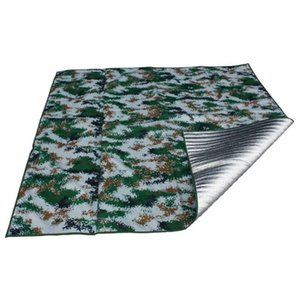 Outdoor Pads 2m*2m Camping Mat Camouflage Moisture Pad Thick Foldable Sleeping Picnic Aluminum Film