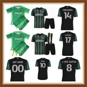 2021 2022 La Galaxy Soccer Tehersys Trackys Pavon Chicharito J.dos Santos Lettget Corona Katai Футбольные рубашки Мужчины + Детский комплект