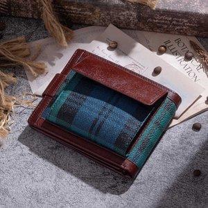 Wallets Short Fashion Men's Leather Wallet Driver's License Multi Card Busins Bag