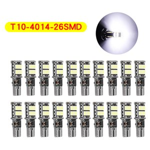 20Pcs Lot Highlight T10 W5W 4014 26SMD Car Decoding LED Canbus Bulbs Error Free Side Marker License Plate Lights