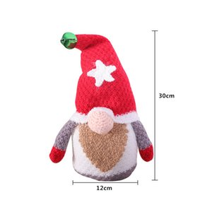 Christmas Decorations Gnomes Knitted Dolls Christmas Tree Santa Ornaments Xmas Gifts Party Supplies GWD10520
