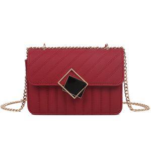 PB0009 4Colors Fashion Diamond Metal Decorate Versatile Chain Bags One Shoulder Messenger Bag PU Leather Handbag