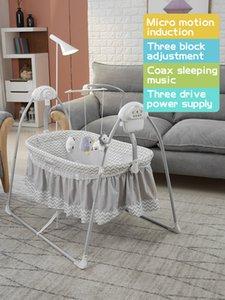 Baby newborn rocking bed with music baby electric cradle sleep basket shake 0-36 monthbaby intelligent swing
