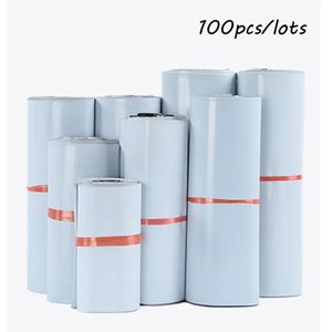 100Pcs Mailers Envelopes Ship Bags Self Adhesive 100 Bag Express Waterproof and Tear-Proof Postal Pouch for Courier Mailing