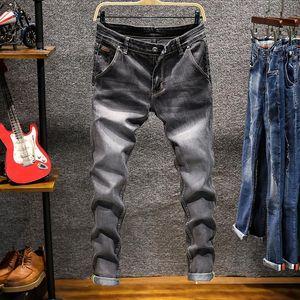 Asstseries Brand Fashion Jeans Men Business Casual Stretch Slim 5 Color Classic Vintage Trousers Denim Pants Jean Men's