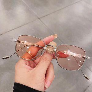Sunglasses Fashion Ladies Small Square Women Brand Designer Luxury Metal Punk Sun Glasses Female Eyewear Shades UV400
