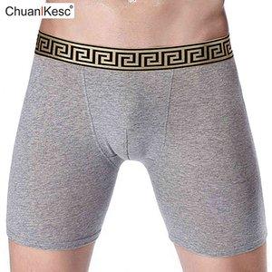Pantaloni pugili lunghi da uomo Tutti i pantaloni di cotone Anti Indossano Legami di grandi dimensioni Biancheria intima da corsa comodo Brand Brand Shorts L0322