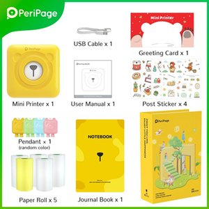 Printers 8PCS Set PeriPage Portable Thermal Bluetooth Printer A6 Set Gift Box For Girlfriend & Kids