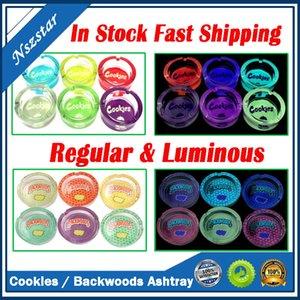 C-okies runtz backwoods ashtray leuchtende runde form klare glas jar ash tray zigarette ashtray quadratisch für tobacco zigarre rauchen trocken kräuter dhl