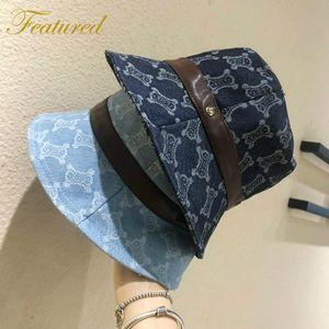 Корейские моды женские весенние джинсовые изготовлены старые стиль рыбацкой шляпы элегантной улицы