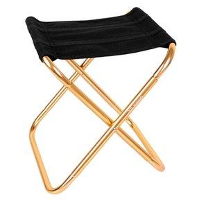 Acampar pesca ligera al aire libre compacta portátil aleación de aluminio plegable asiento asiento accesorios para caminar