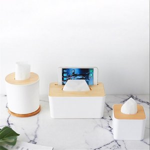 Tissue Boxes & Napkins 2021 Household Wooden Napkin Paper Box Living Room Simple Storage Towel Supply