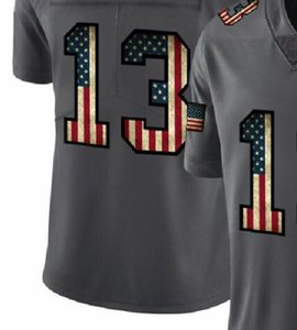 Professional Custom Jerseys NO 9 13 41 Embroidered Carbon Black Retro Flag Limited Mens American Football Jersey A1