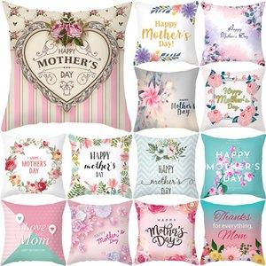 Muttertag Kissenbezug Weiche Gewebe Flannelette Quadrat 18x18 Zoll Floral Gedruckt Kissenbezug für Home Sofa Schlafzimmer Auto