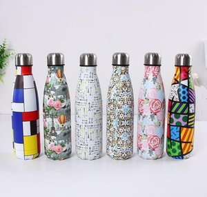 350ml 500ml Cola Shaped water bottle Vacuum Insulated Mugs Travel Double Walled Stainless Steel coke shape 1DIW
